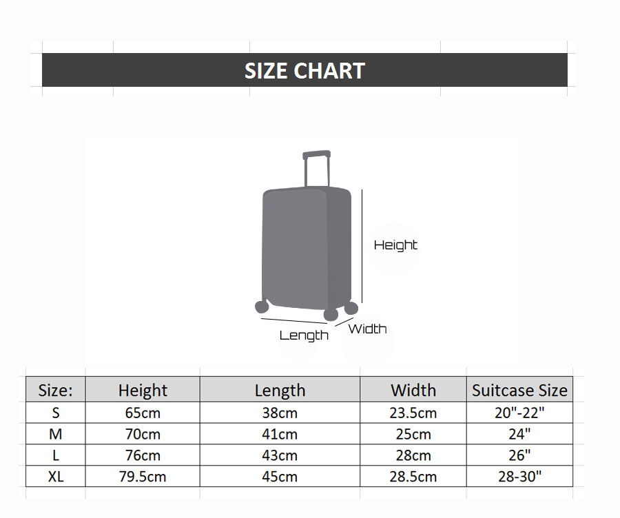 "20"" ~28"" Travel Luggage Cover Trolley Suitcase Protector"
