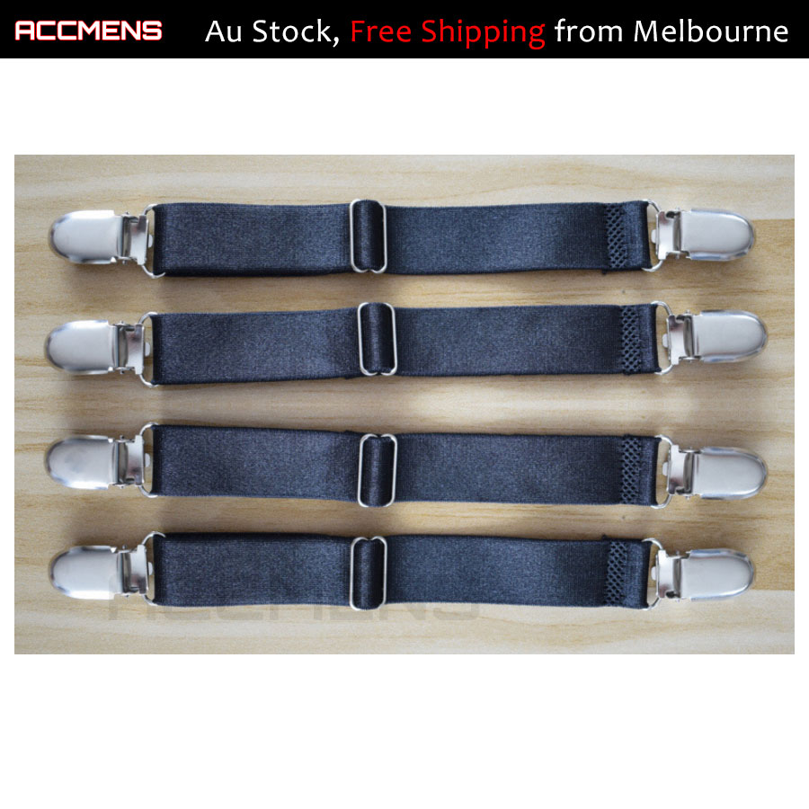 4pcs 2-Clips Fitted Sheet Strap Clips Grippers Mattress ...