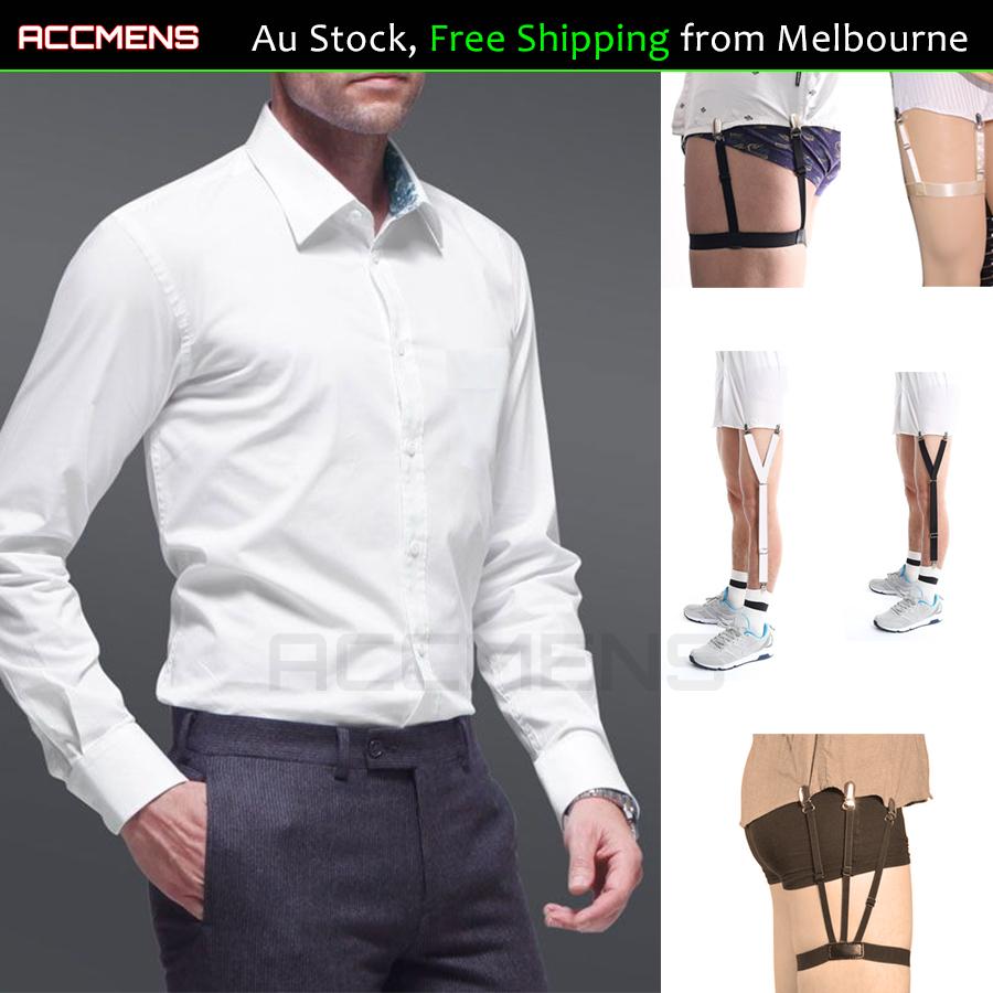 1 pair Mens Shirt Stays Holder Garters Suspenders Military Uniform Non-slip  Sock | eBay