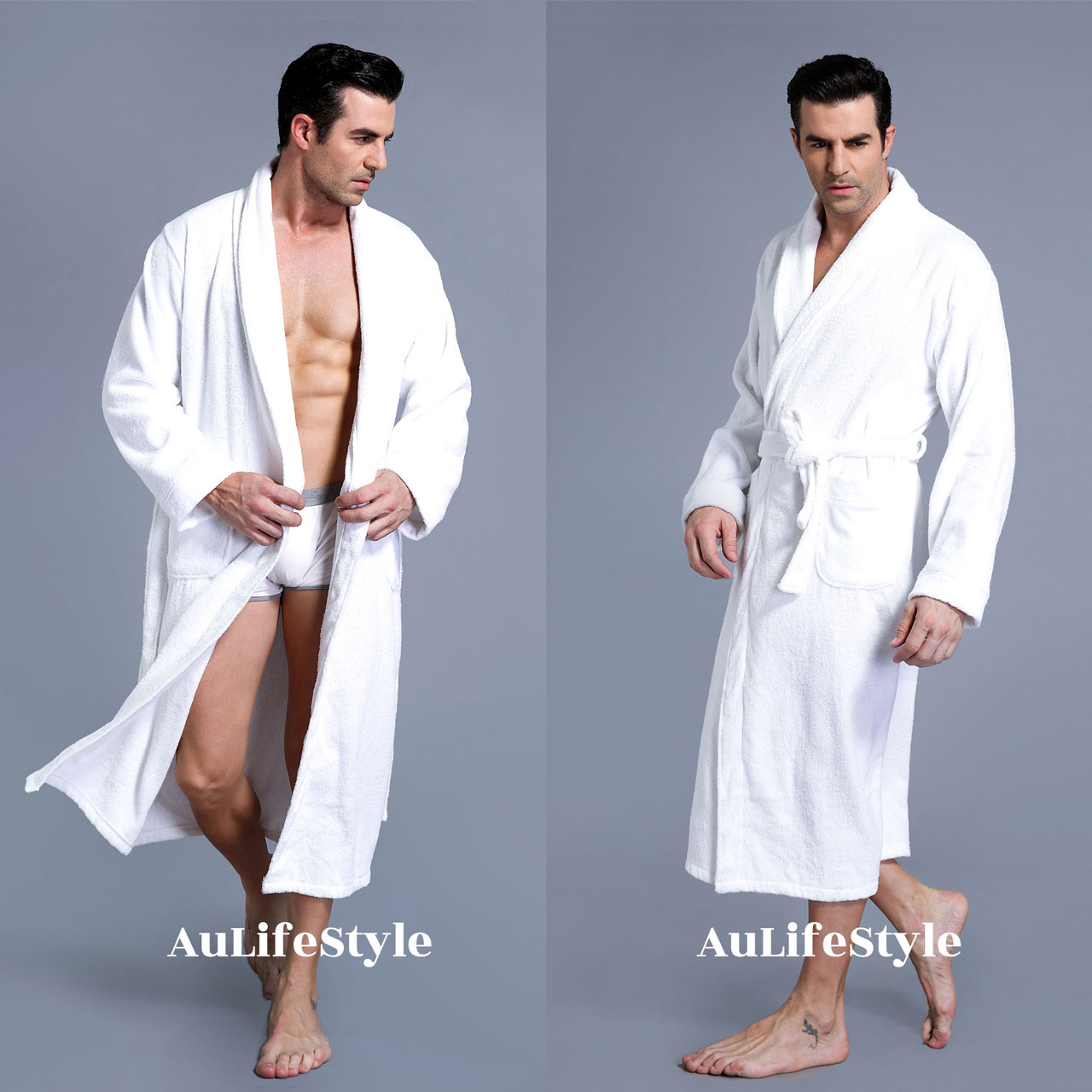 XXXL LUXURY 100% COTTON TERRY TOWELLING BATH ROBE MEN   WOMEN SOFT ... 3902b341d