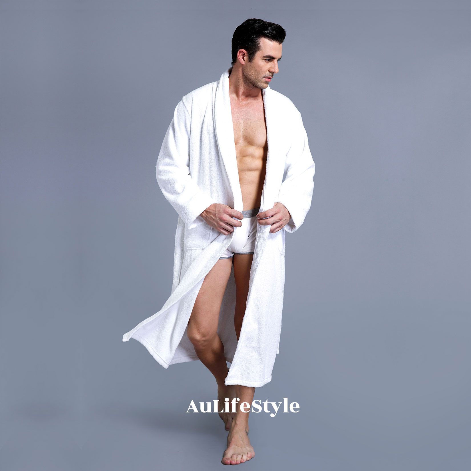 XXXL LUXURY 100% COTTON TERRY TOWELLING BATH ROBE MEN   WOMEN SOFT ... 3902b341d